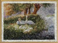 Купить картину Лебеди